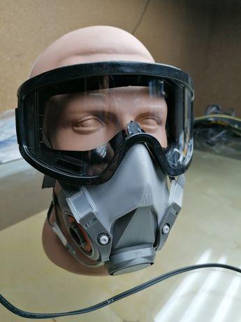 Очки строительные специально под маску респиратор 3м 6200, новые