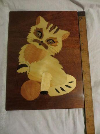 Новая картина кошки из дерева ссср