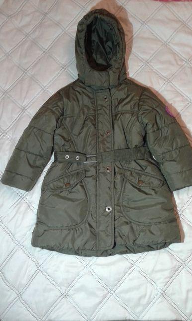 Куртка-пальто плащевое на девочку (размер 98)