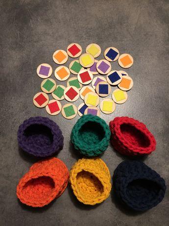 Koszyki, sorter kolorów Montessori