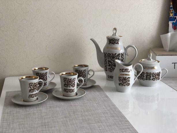 Чайный кофейный сервиз, заварник, соусница, сахарница