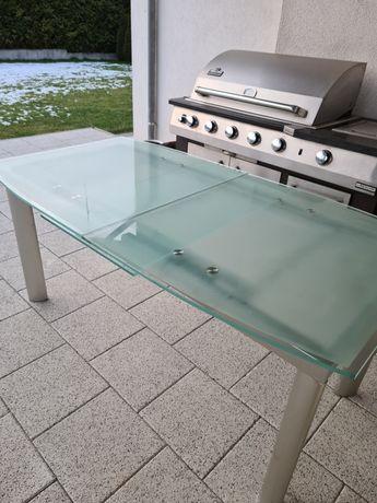 Stół z hartowanego szkla
