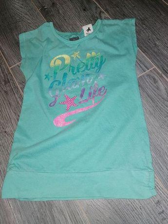 Красивая и нарядная удлиненная футболка Palomino для девочки 5-6 лет