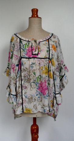 bluzka z falbankami oversize luźna zwiewna L
