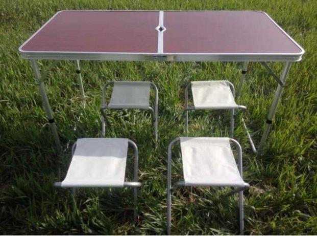 Стол складной со стульями, для пикника, отдыха, рыбалки