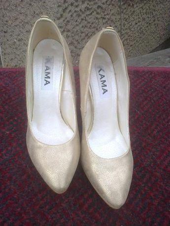 Buty szpilki KAMA, złote. Przesyłka GRATIS!