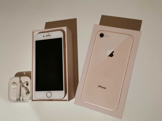 Iphone 8 gold 64gb potłuczony