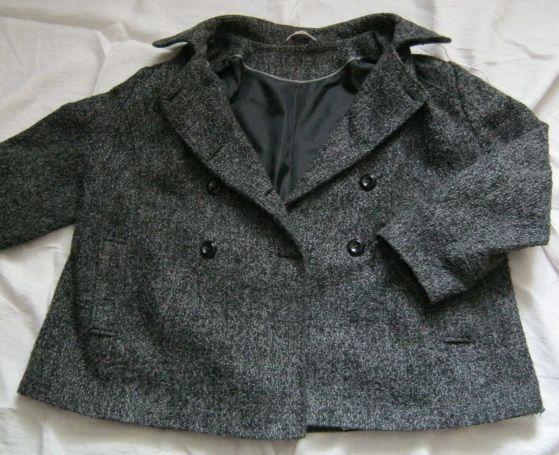 Płaszcz damski krótki szary-melanż r. 52/54/56 FF True