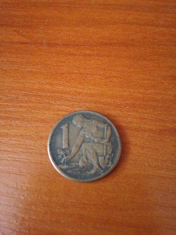 Moneta 1 korona 1964r Czechosłowacja