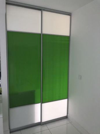 Szyby 2 sztuki zielone, wypełnienie drzwi szafy lub miedzy szafki kuch