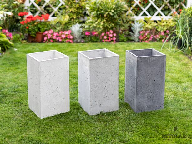 Donica betonowa 30x30x55 Posejdon donice betonowe- architektoniczne.