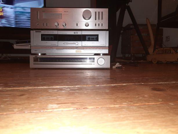 amplituner wzmacniacz radio kaseciak JVC A-X1 zestaw