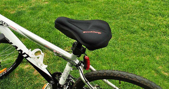 Мягкая накладка 3D на седло велосипеда COOLCHANGE чехол с силиконом