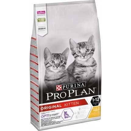 Purina Pro Plan kitten 10 кг- сухой корм для котят с курицей