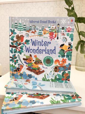 Winter Wonderland ,Usborne  музыкальная книга-игрушка с резными