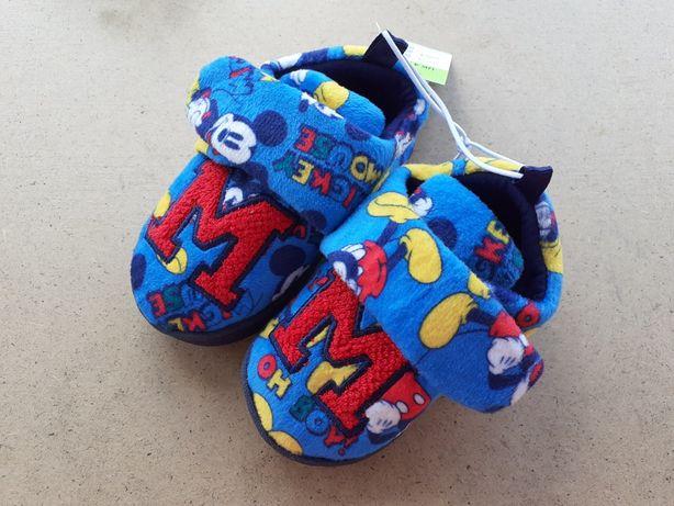 Тёплые тапочки 20 размер, для мальчика 1 год Микки Маус Дисней
