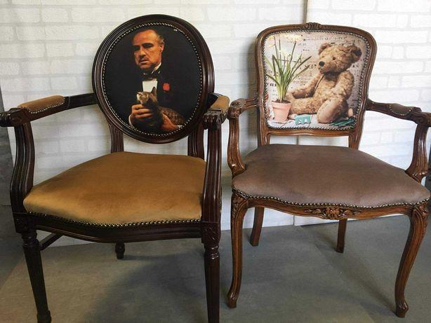 Krzesla ,fotele z roznymi motywami