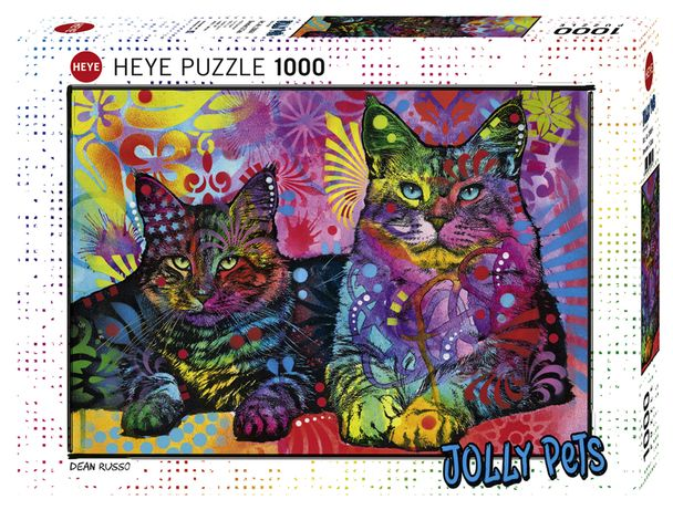 Puzzle Heye 1000 Peças 29864 Jolly Pets Devoted 2 Cats - NOVO