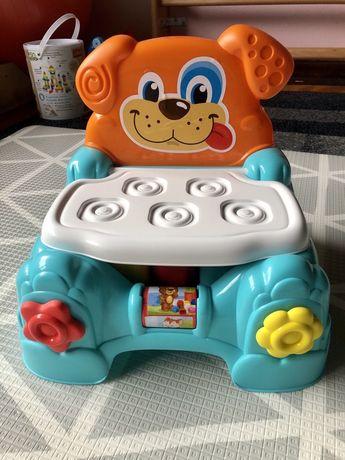 Krzesełko krzesło pojemnik z klockami clementoni 2w1