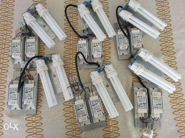 Material electrico (lampadas e respectivos componentes)