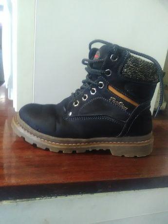 Утеплённые зимние ботинки