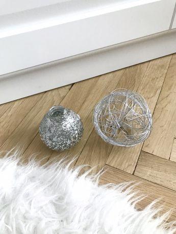 Srebrne ozdoby wazonik kula do domu minimalistyczne minimal  święta
