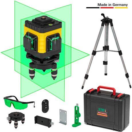 Немецкий 3D Нивелир 12 Линий. 3X360° Лазерный уровень STIF + Штатив