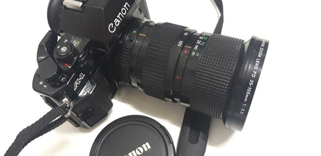 Câmara fotográfica vintage Canon A1