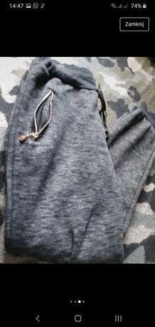 Spodnie dresowe na zime ocieplane r.M