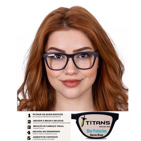 Óculos Para Proteção de Luz Azul - Ecrãs LCD e Gaming - Titans Sierra
