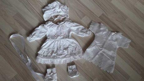Sukienka zestaw do chrztu, strój, ubranko dla dziewczynki rozm 68