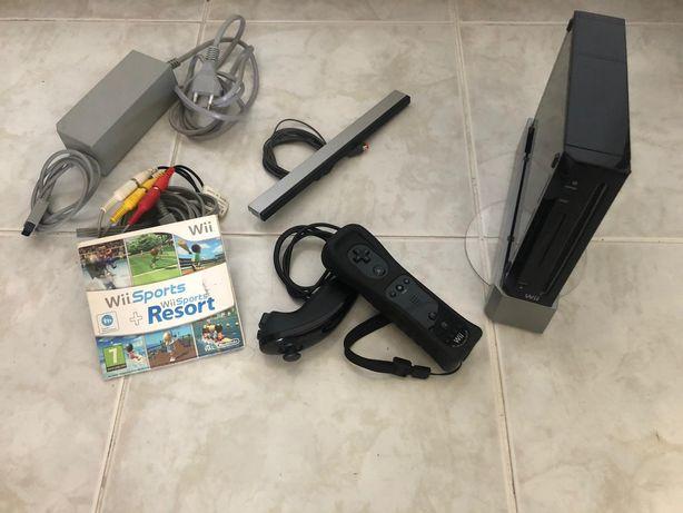 Wii + jogos + mochila