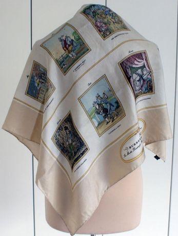 Эксклюзив. Винтажный шёлковый платок BURBERRY (оригинал) hermes gucci