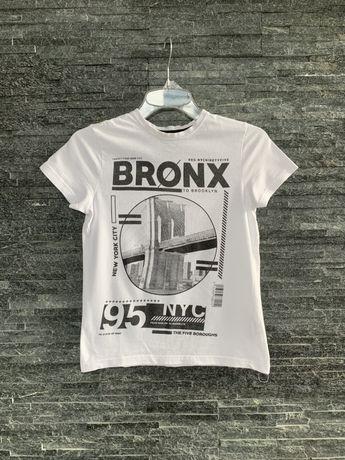 r. 140 cm / PRIMARK biała koszulka bluzka dla chłopca