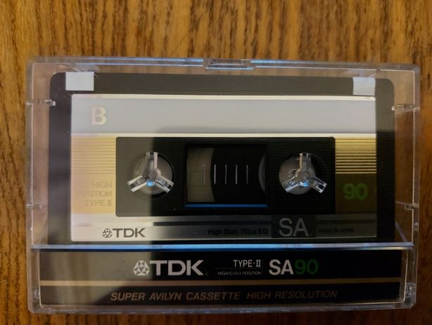 Kaseta TDK SA 90, złota, bdb+