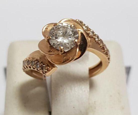 Кольцо из красного золота с цирконием (12554561) (12554561)