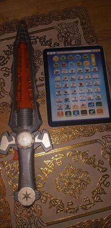 Sprzedam miecz świetlny i tablet dla dzieci