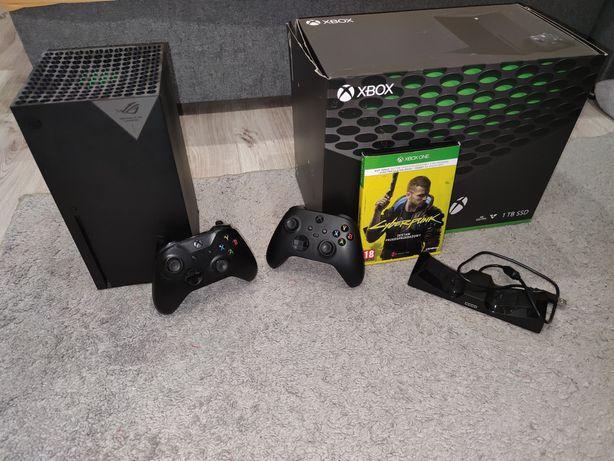 Xbox Series X *2 pady *Akumulatory z ładowarka *Cyberpunk