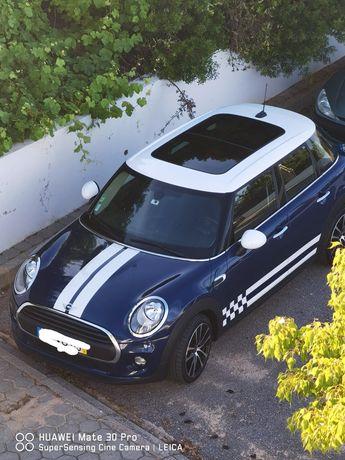 Mini Cooper One D 2015 Azul Com tecto de abrir em muito bom estado