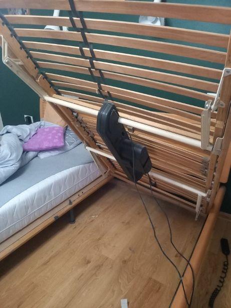 Drewniany stelaż elektryczny dla niepełnosprawnych z pilotem 100x200cm