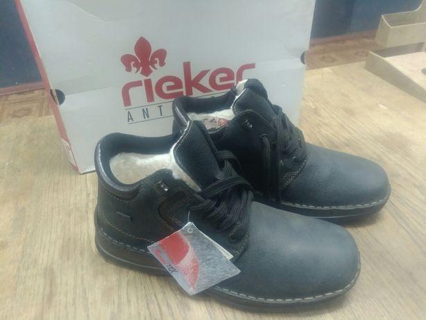 Rieker ботинки-зима нубук набивная овчина нов 40 размер