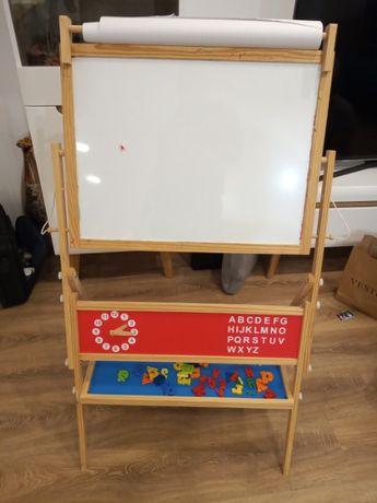 Tablica do malowania+magnetyczna dla dzieci + rolka papieru+literki