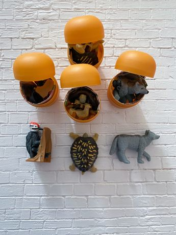 Киндер коллекция натунс Natoons:дятел,черепаха,волк
