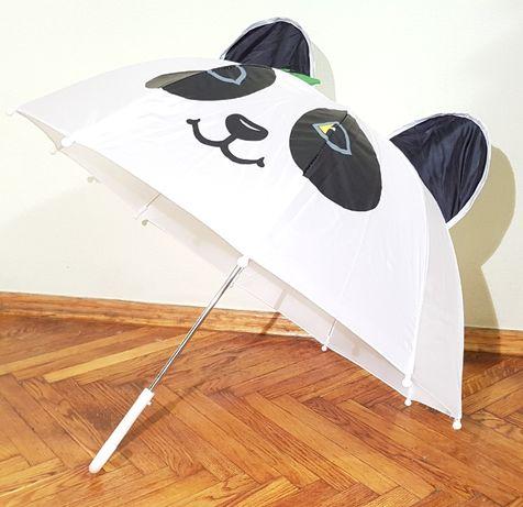Детский 3D зонт куполом грибочком Панда Panda