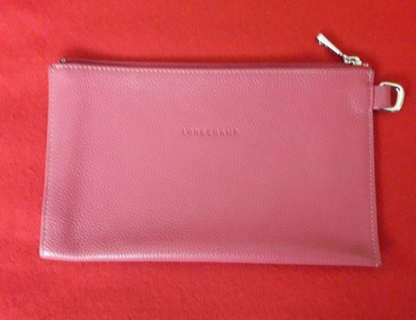 Clutch Original da Longchamp em pele Rosa