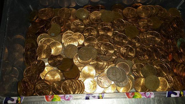Moedas de  50 centavos algumas como novas