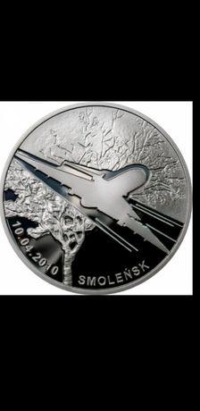 Srebrna moneta 20zł Smoleńsk - pamięci ofiar 10.04.2010 r.