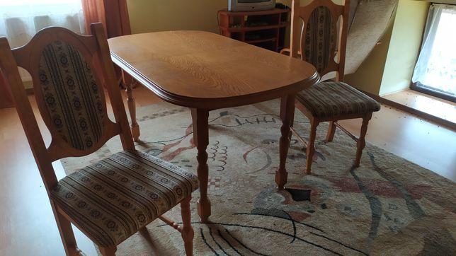 Zestaw stół rozkładany + 6 krzeseł.