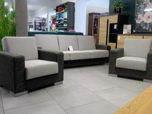 Komplet wypoczynkowy zestaw wersalka + 2 fotele kanapa szara
