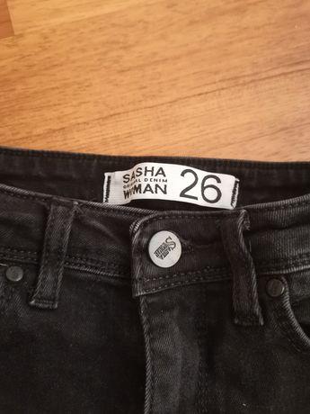 Джинсы чёрные 26 размер